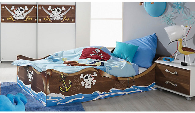 kinderbett piratenschiff. Black Bedroom Furniture Sets. Home Design Ideas