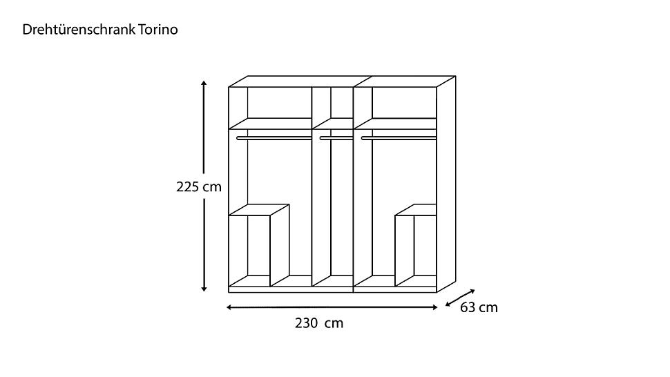 kleiderschrank mit dreht ren 5 t riger torino von dormani. Black Bedroom Furniture Sets. Home Design Ideas