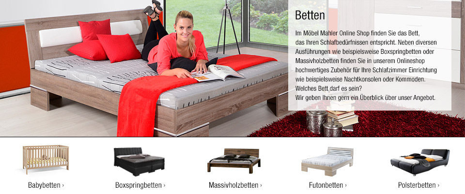betten online kaufen polsterbetten boxspringbetten mehr. Black Bedroom Furniture Sets. Home Design Ideas
