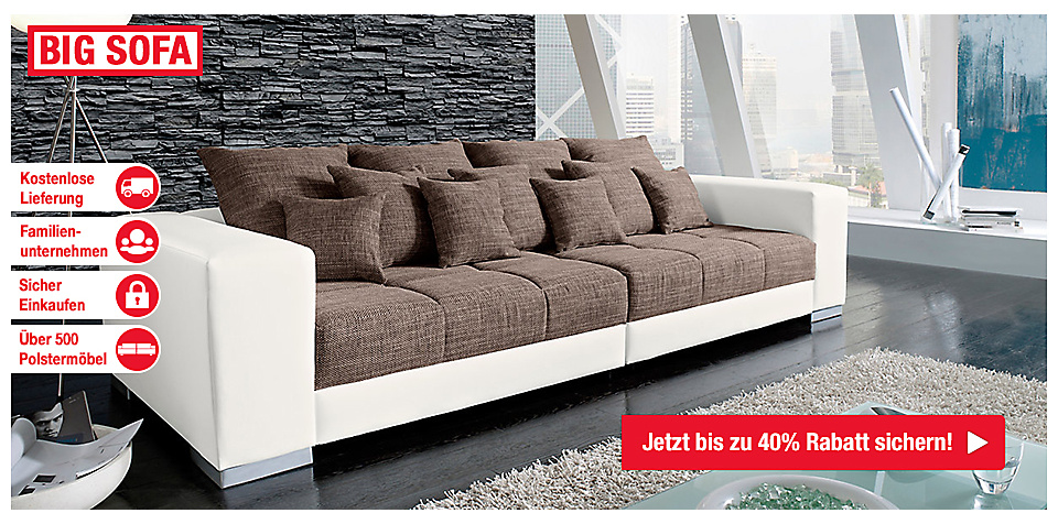 big sofa online bestellen m bel mahler. Black Bedroom Furniture Sets. Home Design Ideas