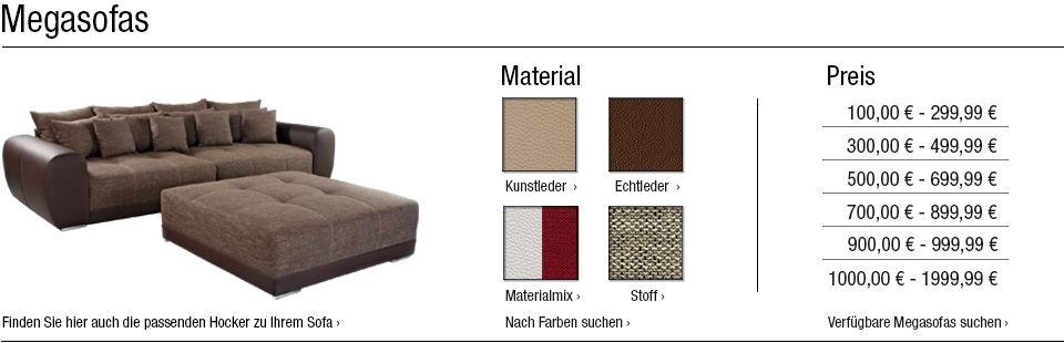 megasofas online kaufen gro e 2 sitzer 3 sitzer und mehr. Black Bedroom Furniture Sets. Home Design Ideas
