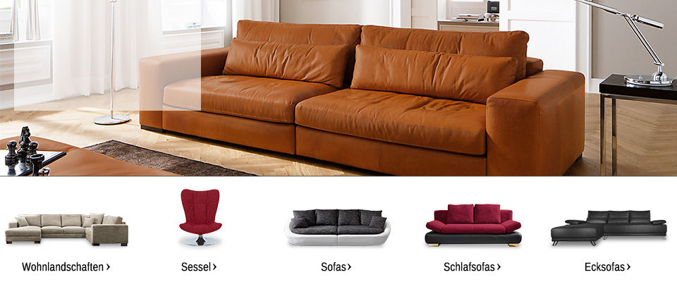 polsterm bel onlineshop sofas couchgarnituren sessel. Black Bedroom Furniture Sets. Home Design Ideas