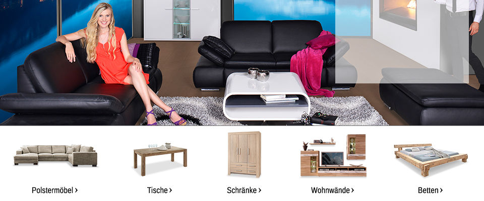 m bel onlineshop betten schr nke sideboards mehr. Black Bedroom Furniture Sets. Home Design Ideas