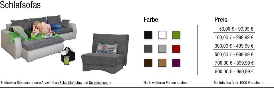 schlafsofas online kaufen bequem modern und farbenfroh. Black Bedroom Furniture Sets. Home Design Ideas