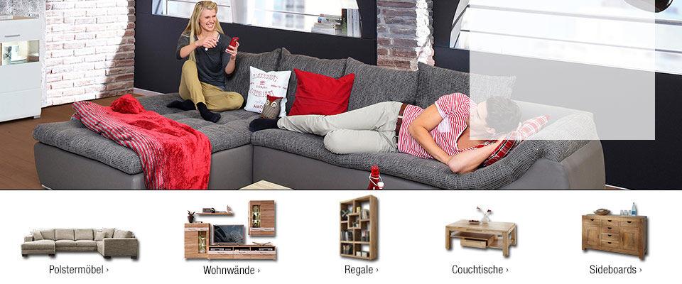 wohnzimmermöbel online kaufen | sofas, regale & mehr